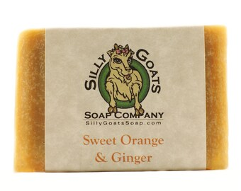 Orange soap, Citrus Soap, Orange Bar Soap, Orange Hand Soap, Orange Soap Bar, Orange Ginger Goat Milk Soap