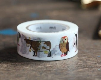 MT Washi Tape Alain Grée Animal New MT Washi Tape Summer Collection 2015 Artist Series (MTALAN02)