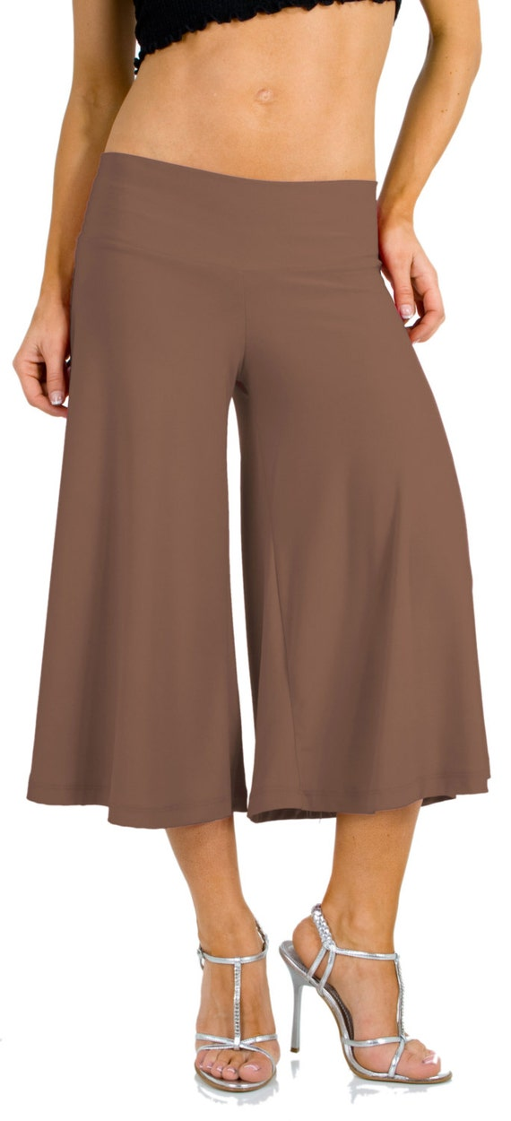 Flowy and Comfy Women's Capri Gaucho Pants. 25 colors