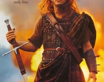 Braveheart Mel Gibson poster 11 X 17