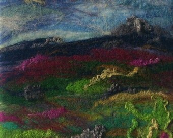 Moors - Original Small Needle & Wet Felted Textile Artwork