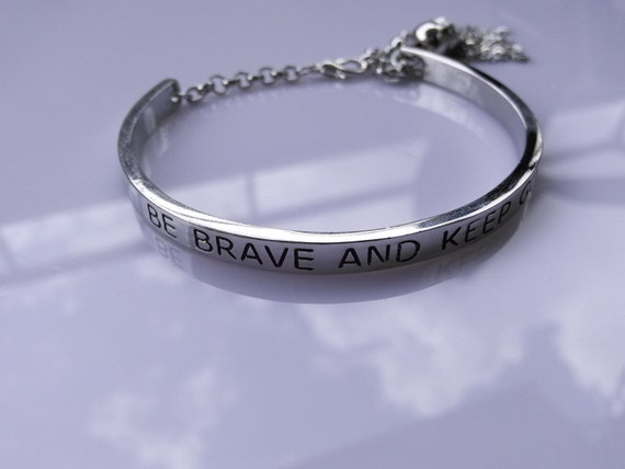 keep going bracelet be brave and keep going bracelet slogan jewelry be brave 2954
