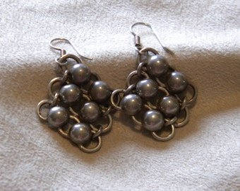 Sterling Silver Vintage Bead Earrings
