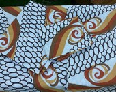 Vintage Spring Mills Swirl Hippie Psychedelic Double Flat Sheet Set Pillow Cases Case Pequot Muslim