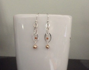 Sterling, Pearl and Crystal Earrings