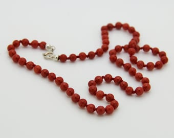 Necklace with red coral Corsica 1st choice and certified