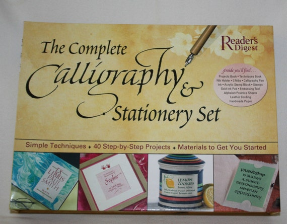 Readers Digest The Complete Calligraphy Stationery Set 40