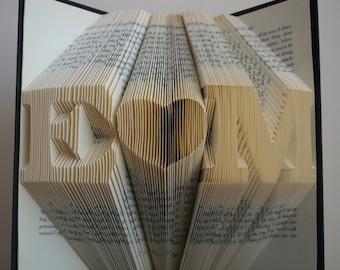 1st wedding anniversary folded book art anniversary gift gift for him gift