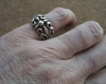 Sterling Scroll Ring - 101