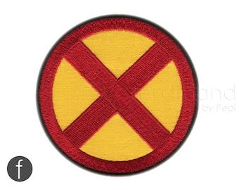 "x-men emblem Iron On Patch 3.35"""