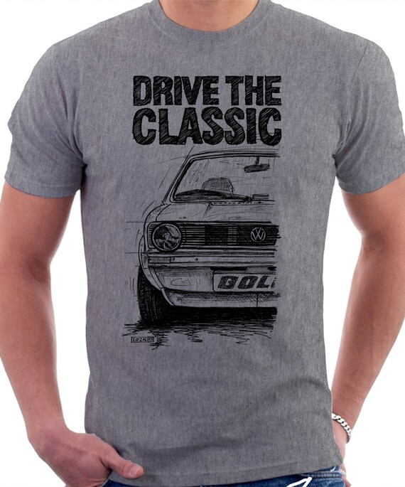Clasic Retro Vw Golf Mk1 T Shirt Original Hand By Lukasloza