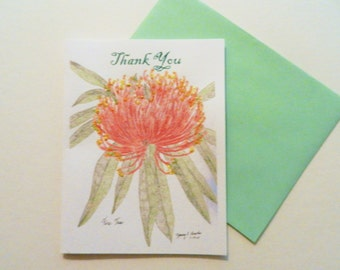 Thank You Greeting Card- Fire Tree