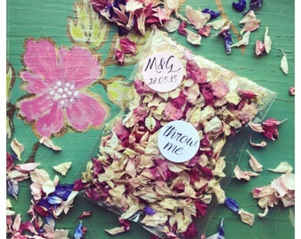 Real Flower Confetti Bags