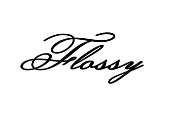 Flossy Vinyl Decal Sticker New Car Decal Window Decal Wall Decal Bling Fancy Cool Decal Stickers