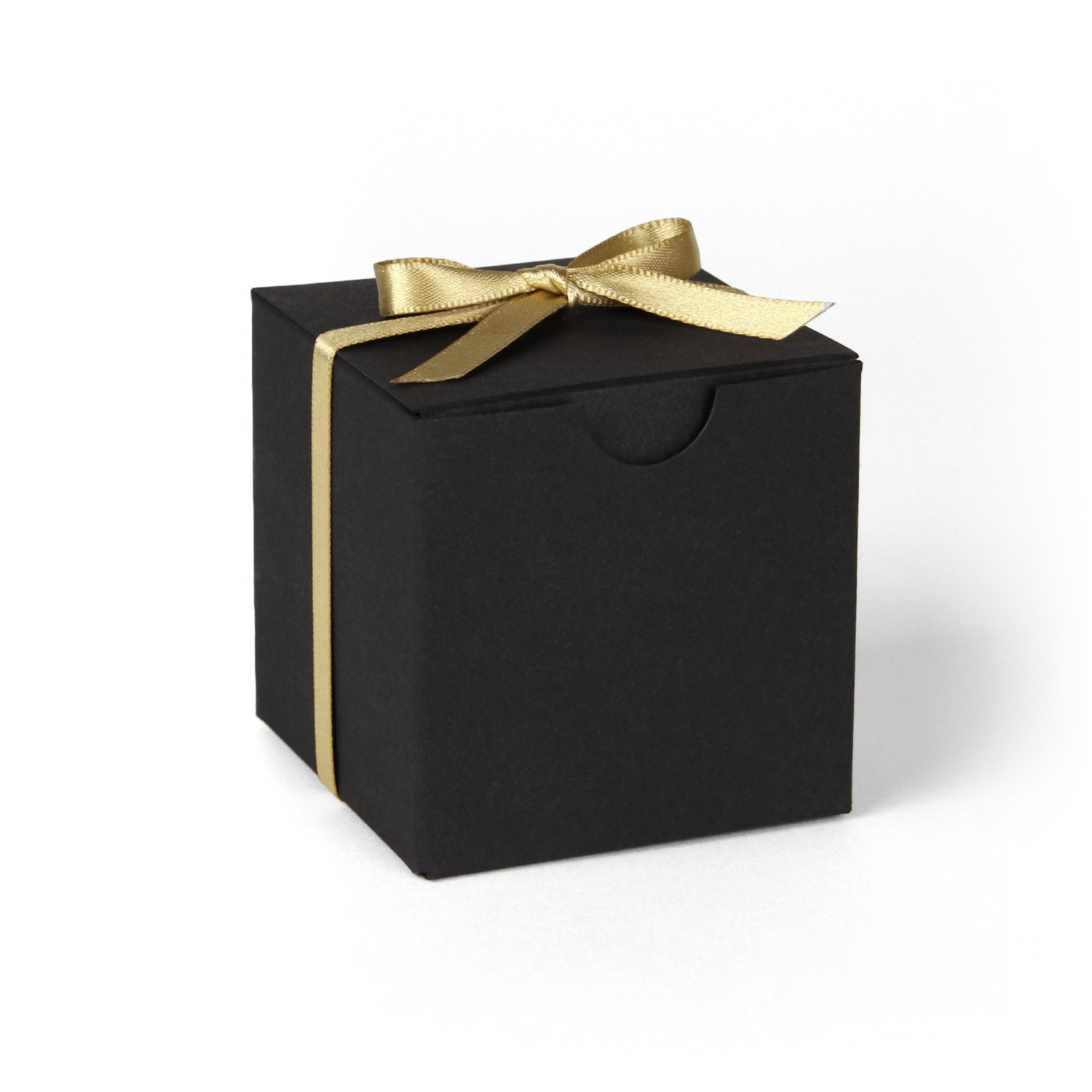 Gift Box Gold : Black favor boxes gold and