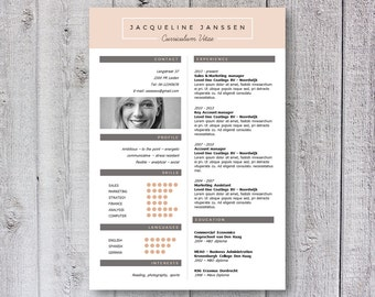 3x modern resume template cv template creative design word ...
