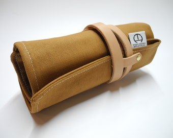 Fully Custom Duck Canvas Tool Roll. Choose Fabric/Thread Colors! Waxed / Waxing Available