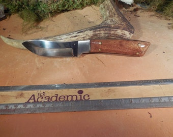 Wyoming Skinner  Marine Teak  wood Handles Hunting Knife