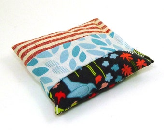 Hemp and Organic Cotton Catnip Pillow - one of a kind - red white and blue