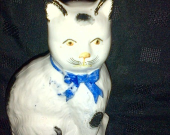 A Late C19th Staffordshire Cat