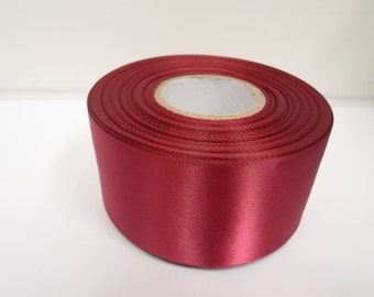 3mm 7mm 10mm 15mm 25mm 38mm 50mm Rolls, Burgundy Wine Satin ribbon, 2, 10, 25 or 50 metres, Double sided,