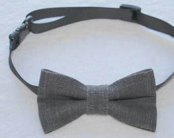 Black denim bowtie for all ages: babies, toddlers, kids, boys, men and pets!
