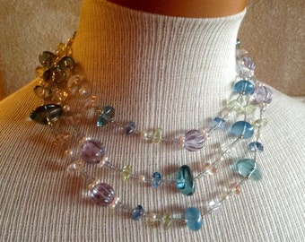 Beaded multistrand Necklace 15 inches