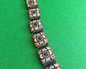 3-Day Sale 30% Off // Vintage Italian Micro Mosaic Bracelet Old 1900s // Coupon code SALE20