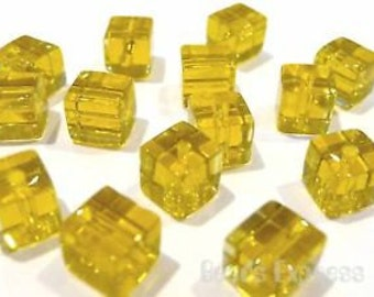 Glass Cubes - 3 Sizes - Amber