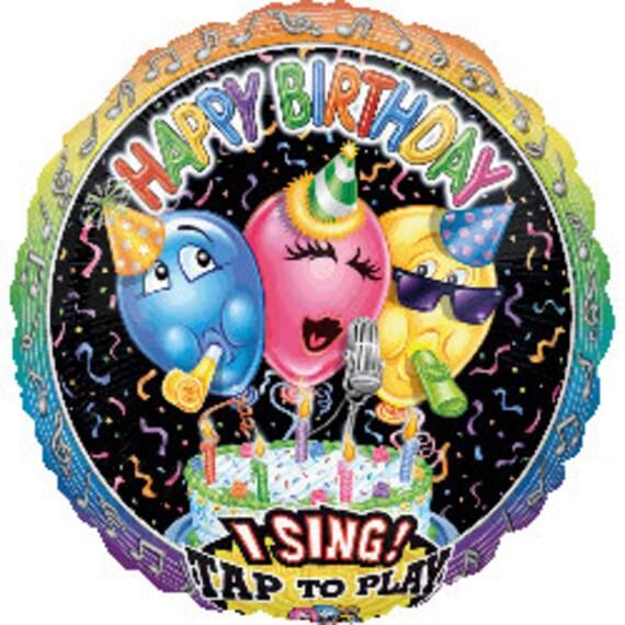 Jumbo 28 Sing A Tune Singing Happy Birthday Balloon
