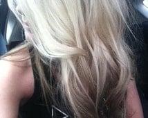 Balayage Dip Dye 8A Remy Human Virgin European  Ombre Dip Dye U Part Clip In Wig Platinum Blonde Colour 60  Reverse Ombre #4 Brown