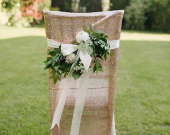 2 Sequin Glitter Chiavari Chair Cover Jacket Slip