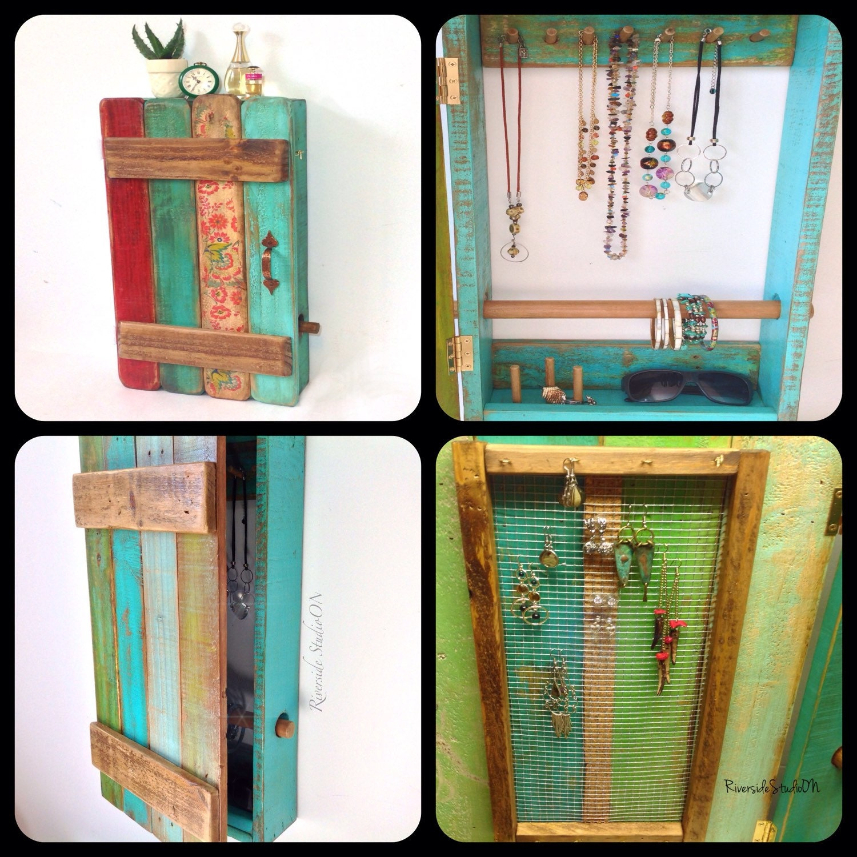 Jewelry Organizer Wall Jewelry Holder And Organizers On: Wood Jewelry Organizer Wall Mount Door And Bracelet Bar