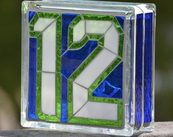 Seattle Seahawks 12th Man Lighted Glass Block