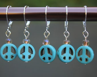 Removable stitch markers for knitting and crocheting