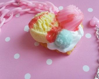 Ice Cream Sundae Necklace