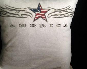 American Tshirt Pillow