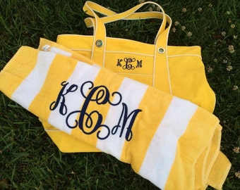 Monogrammed Beach Towels, Personalized Beach Towel