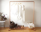 Copper Pipe Clothing Rack / Garment Rack / Clothes Rail - 4' Long