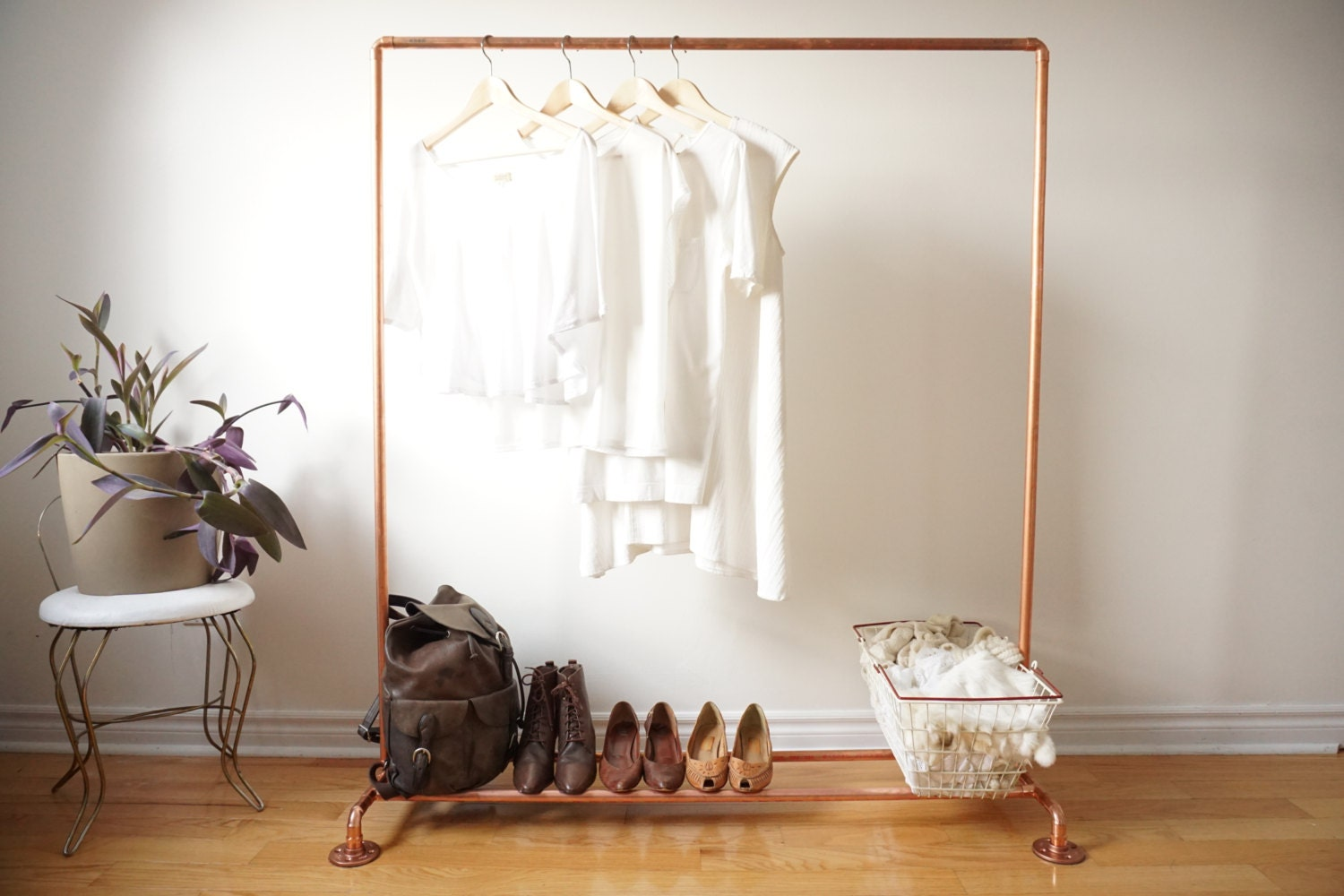 Copper Pipe Clothing Rack  Garment Rack  Clothes Rail