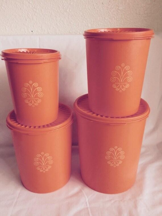 canister sets orange images burnt orange kitchen canisters set of three