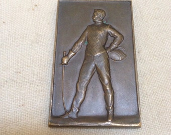 Bronze fencing medal