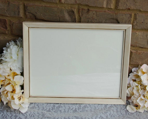 Shabby cottage chic frame, White 10x13 wood picture frame, Farmhouse ...