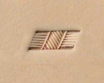 """X498 Craftool Basketweave Stamp 11/16"""" x 7/32"""" 6498-00 by Tandy Leather"""