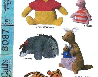 Vintage Winnie the Pooh and Friends Pattern