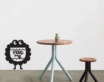 Wall Decal Feed Me Monster- Vinyl Door Decal- Home Decor- Wall Art