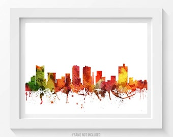 Fort Worth Poster, Fort Worth Skyline, Fort Worth Cityscape, Fort Worth Print, Fort Worth Art, Fort Worth Decor, Home Decor, Gift Idea 04