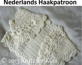 Dutch Bolero crochet pattern 0-18 MOS