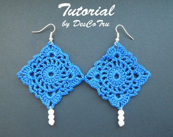 Crochet Earrings with Beads Tutorial – Do It Yourself - Make your own earrings – Crochet earrings pattern under 5 - Gift for her