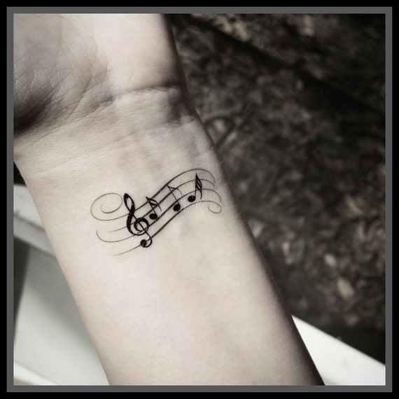 Bekannt Note de musique tatouage tatouages temporaires musique HH49
